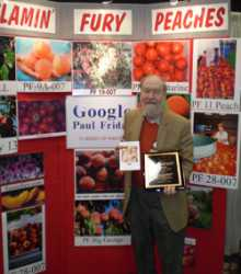 National Peach Council Recognizes Breeder Paul Friday