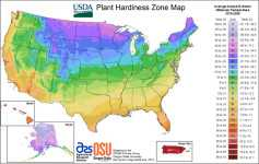 New USDA Cold Hardiness Zone map