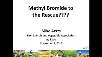 Methyl Bromide Availability Now Virtually At Zero