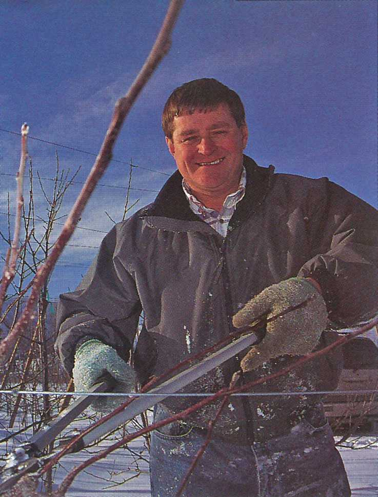 Pruning is Doyle Fleming's first love because it sets up the tree for the rest of the year.