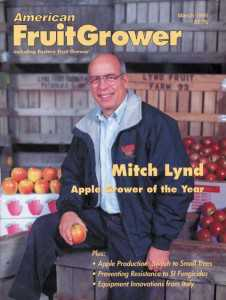 American Fruit Grower AGTY cover 1995 Mitch Lynd