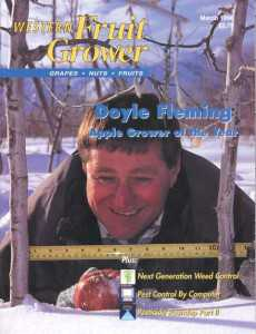 Western Fruit Grower AGTY cover 1996 Doyle Flemming