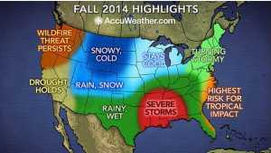 U.S. Fall Weather Outlook Foresees Wild Ride