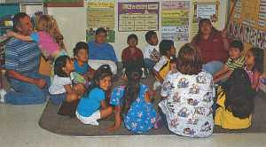 Perhaps Broetje's greatest successes are in the people whose lives he has touched. This includes the daycare center he opened for the children of those families working in the orchard and the packinghouse. As you can see, the children appreciate what he has done for them.