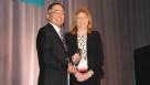 The 2014 Grower Achievement Award winner, Robert Sakata alongside American Vegetable Grower editor, Rosemary Gordon