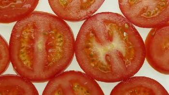 nicely sliced tomatoes