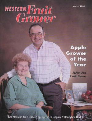 Western Fruit Grower AGTY 1992 JoAnn And Harold Thome