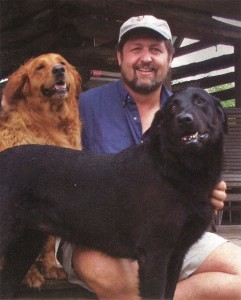 Nix with his canine buddies Nugget and Katie.