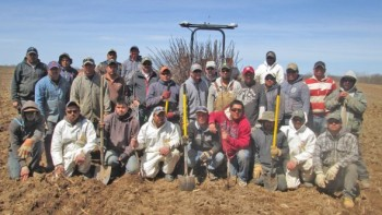 Cornell Spanish Speaking workers planting trees