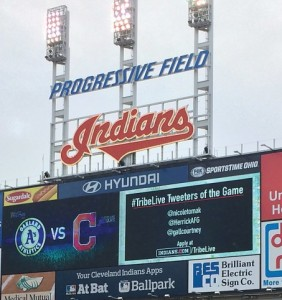 I even got a scoreboard mention as a #TribeLive tweeter of the game.