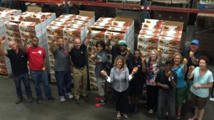 Titan Farms And Grocer Donate More 34,000 Pounds Of Peaches To Food Bank
