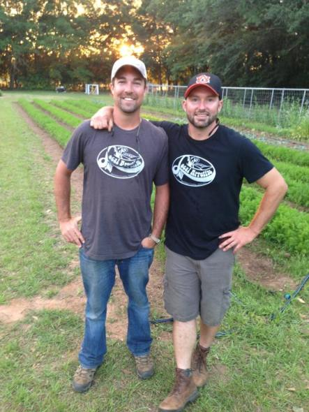 Will Mastin (right) and business partner Karl Brantley of Local Appetite market their produce to high-end restaurants and the occasional farmers market. Photo credit: Local Appetite Growers