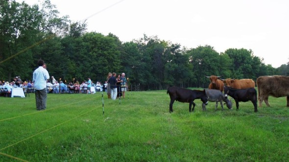 Farm Dinner hosted at Tangletown Gardens farm