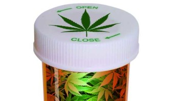 Medical marijuana prescription bottle graphic