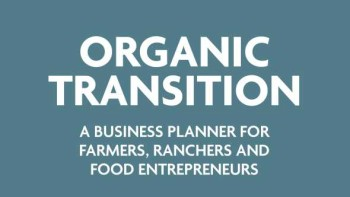 Organic Transition Planner booklet cover title close-up