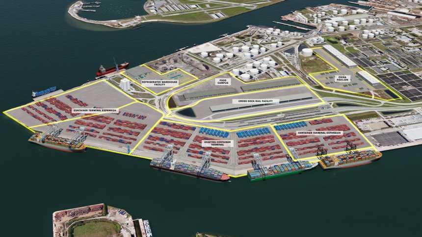 Rendering of Port Tampa Bay expansion