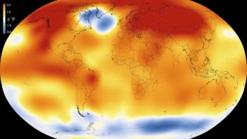 NASA's global temperature heat map for 2015
