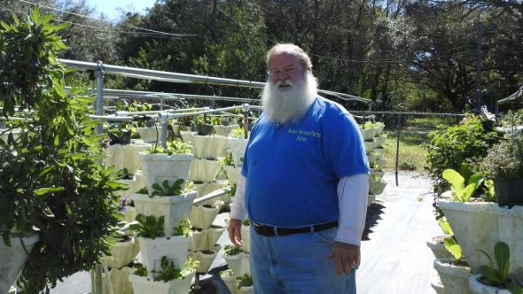 John Lawson of Hyrdro Harvest Farms in Ruskin, FL