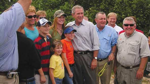 President G.W. Bush visits McKenna Groves in 2004