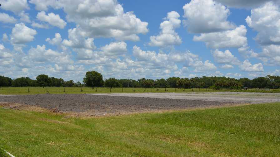 Cleared farmland at 31 Produce in Ft. Myers, FL