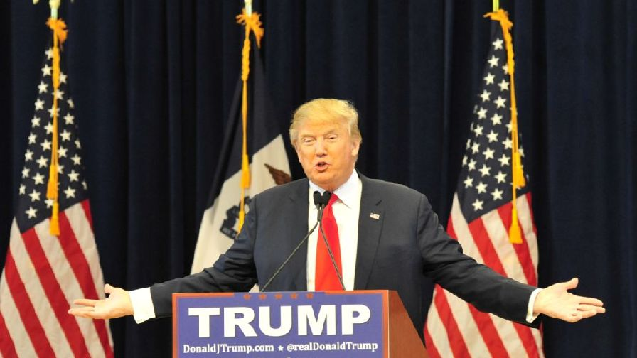 Donald Trump at campaign rally