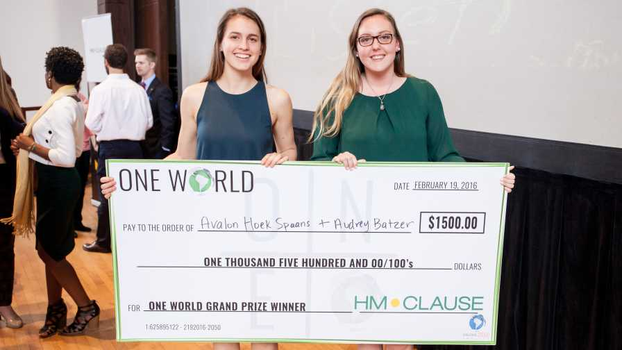 Students awarded for their effort at the One World 2016 event