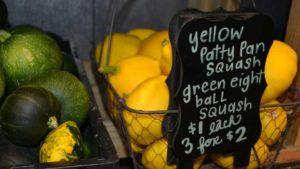 Specialty vegetable farm market display