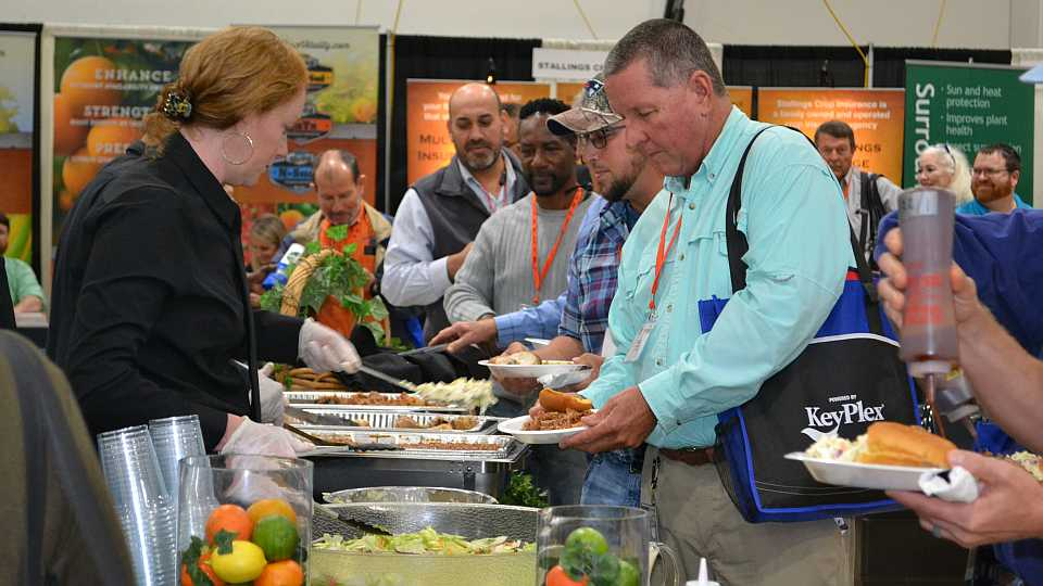 Lunch line at 2018 Florida Citrus Show