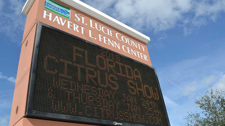 Fenn Center marquee for Citrus Show