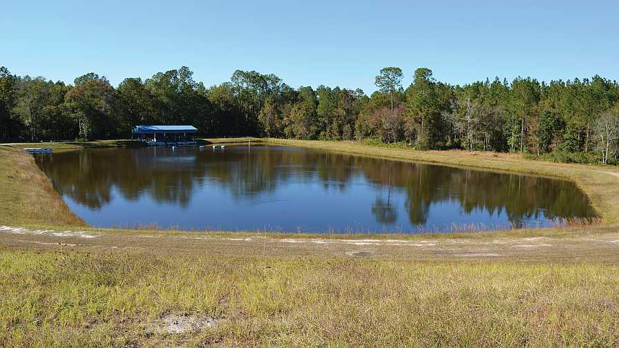 Florida Blue Farms' tailwater pond