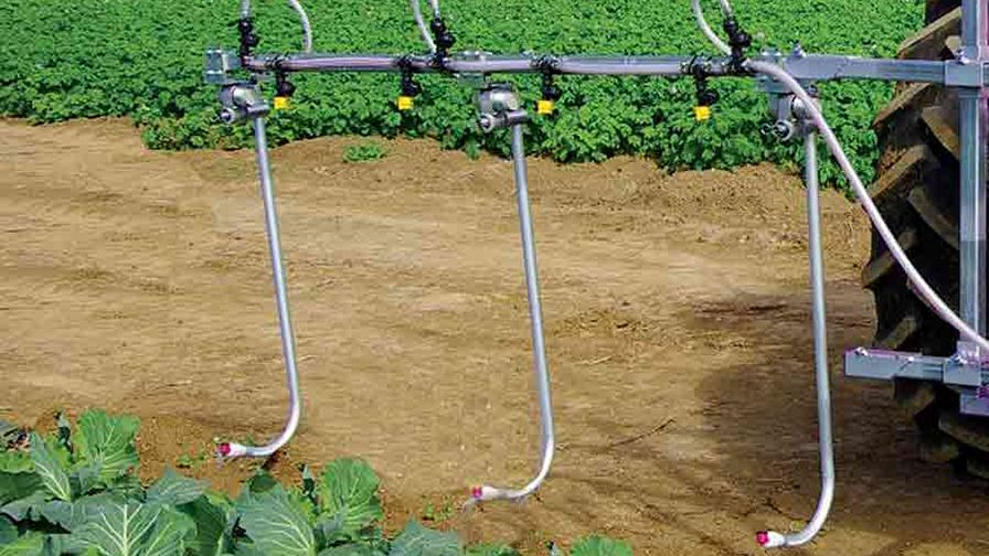 Drop nozzles for crop protection