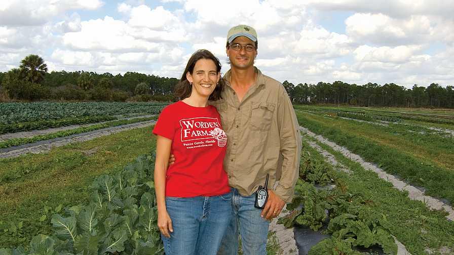 Chris and Eva Worden of Worden Farm in Punta Gorda, FL