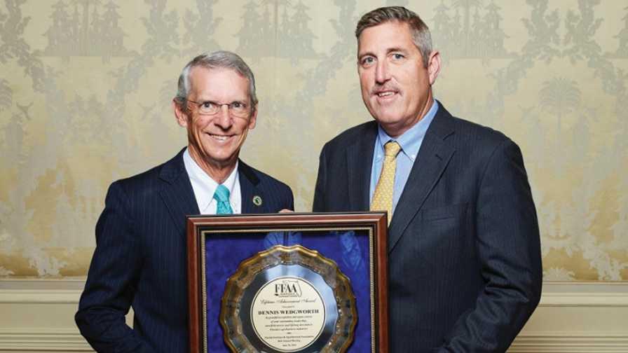 Dennis Wedgworth receives 2018 FFAA Lifetime Achievement Award