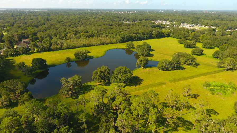 Drone shot of Wish Farms' property for new headquarters in Plant City, FL