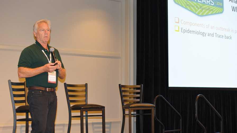 Trevor Suslow speaking at FFVA 2018 on food safety