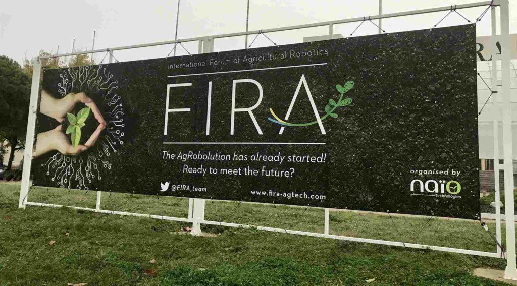 International Forum of Agricultural Robotics event sign