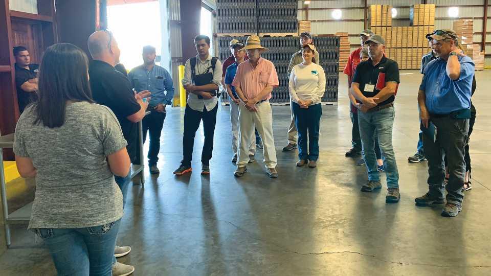 Precision Ag Florida bus tour stops at Astin Farms