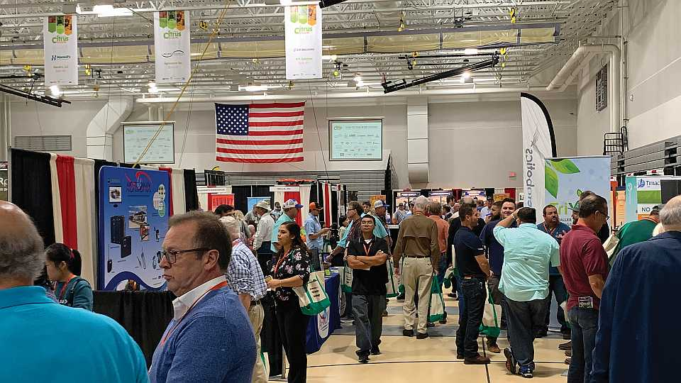 Tradeshow floor at 2019 Florida Citrus Show