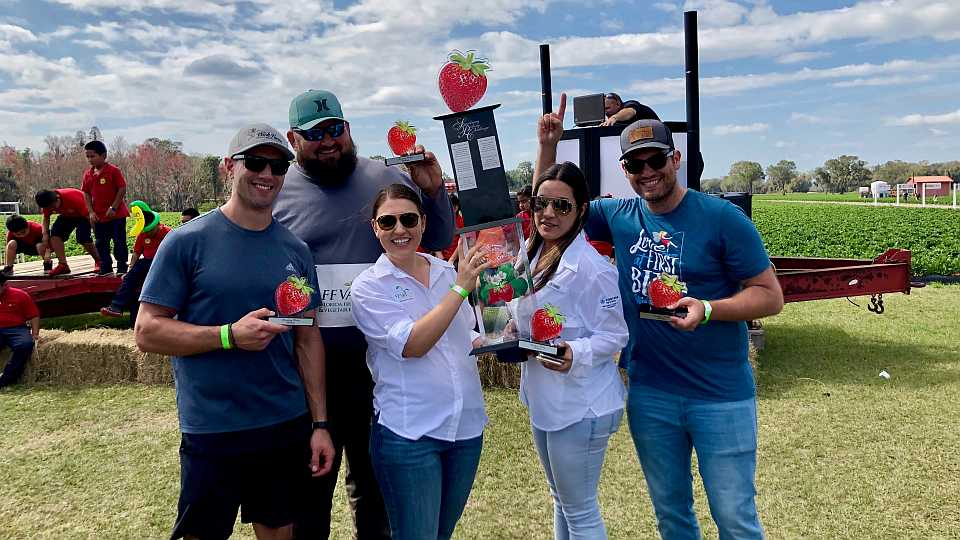 2019 Florida Strawberry Picking Challenge winners