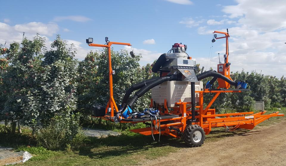 automated picking platform apples