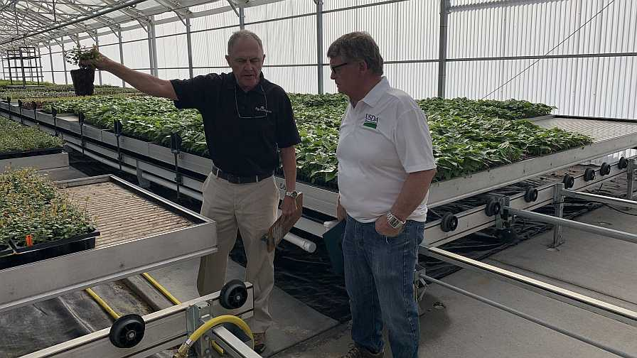 USDA-RMA tour at AgriStarts in Florida