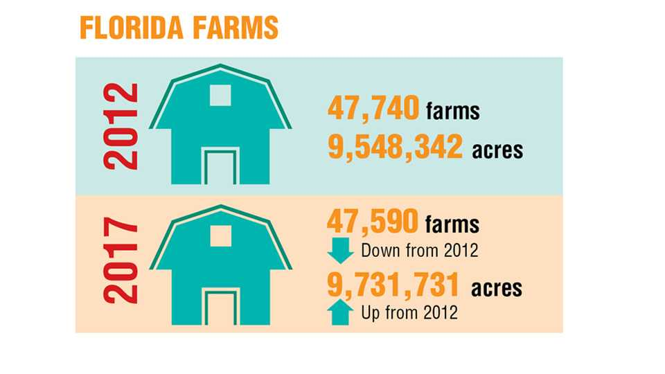 2017 Ag Census Florida farm total infographic