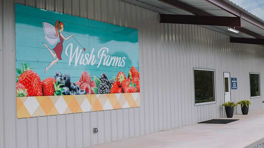 Wish Farms berry cooling facility in Shelby, NC