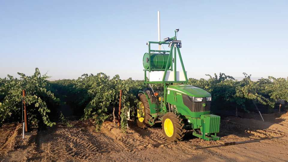 Driverless tractor from Kingman Ag Services