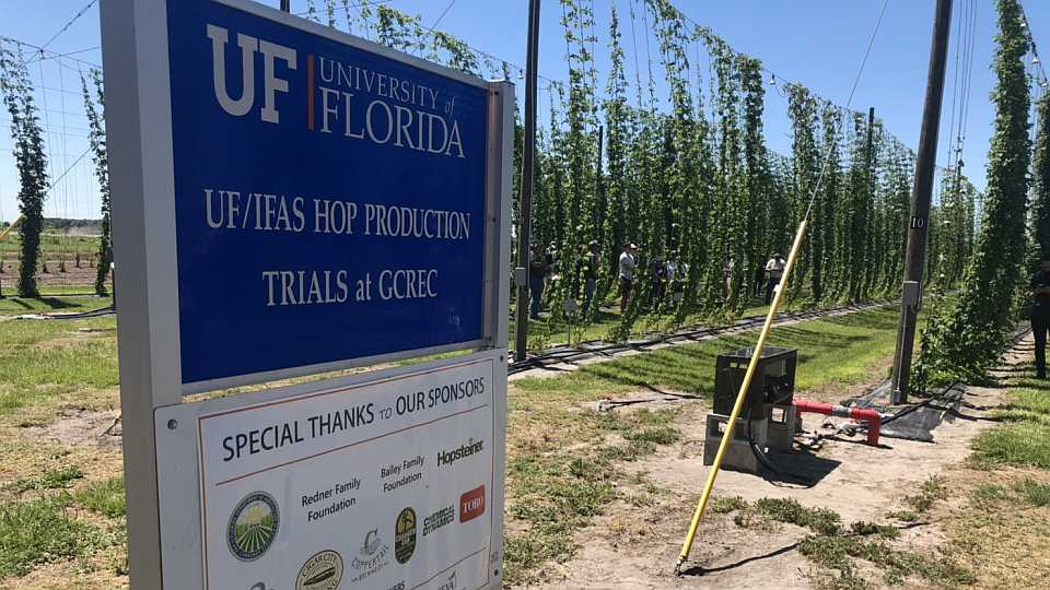 Hopyard sign at UF/IFAS GCREC