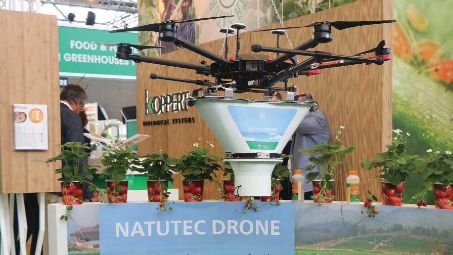 Natutec drone at 2019 Greentech