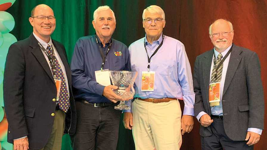Members of Borton Fruit receive 2019 Apple Grower of the Year recognition