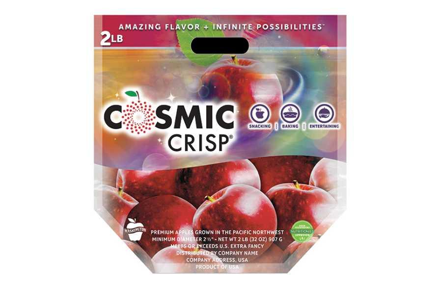 Cosmic Crisp apple packaging
