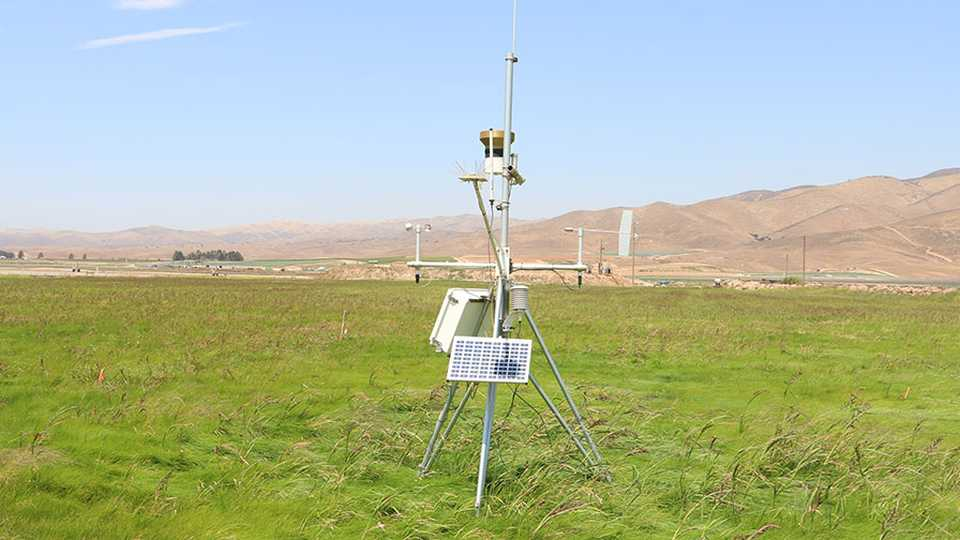 Weather station in California