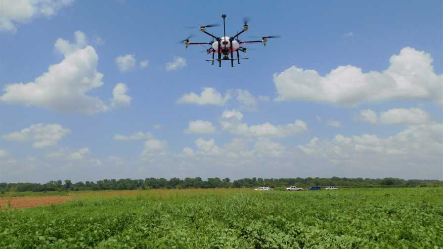 Spray drone for weed control
